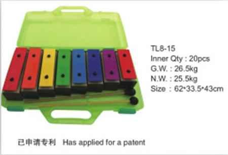 奥尔夫儿童乐器铝块音砖木质手敲琴乐器