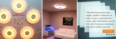 解决LED点光源眩光刺眼问题的新型光扩散板