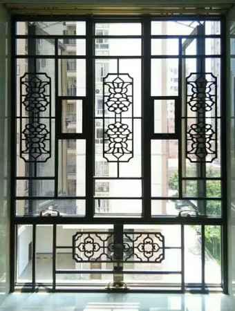 别墅铝艺护窗纱窗