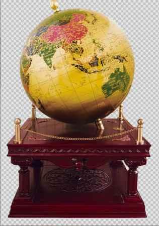 铜地球仪红木底座