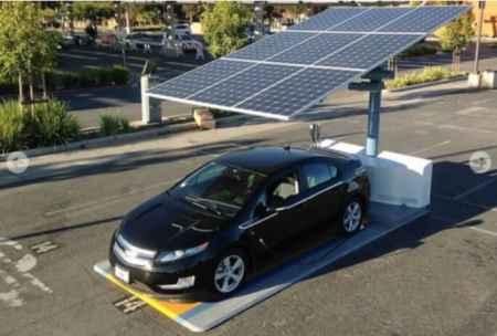 无人驾驶电动车太阳能光伏充电系统